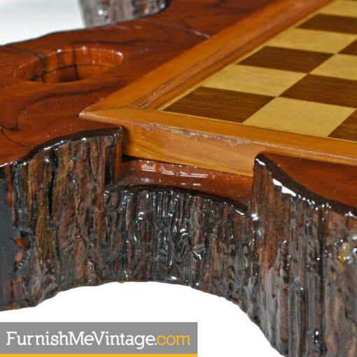 cypress live edge gaming table
