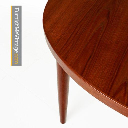 skovmand andersen,danish,teak,oval,dining table,modern