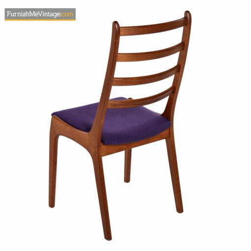 danish teak ladder back dining chairs