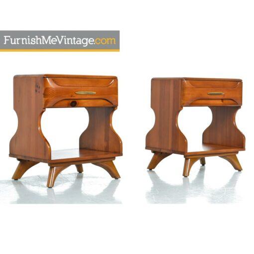 sculptured pine,pine nightstands,franklin shockey,nightstands,rustic,modern