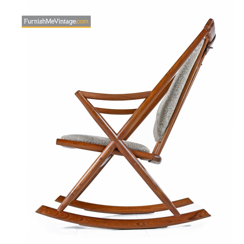 Picture of: Frank Reenskaug For Bramin Danish Teak Rocking Chair