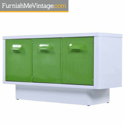 broyhill,chapter one, green, credenza,raymond loewy,futuristic