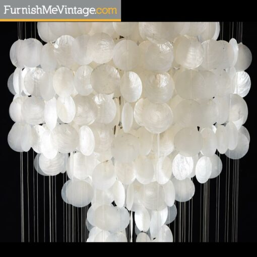 hollywood regency,Capiz Shell Chandelier,verner panton,hanging light