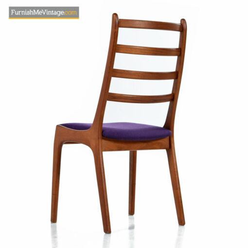 modern danish teak dining chairs