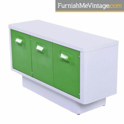 Raymond Loewy Style Green Broyhill Chapter One Credenza Media Cabinet
