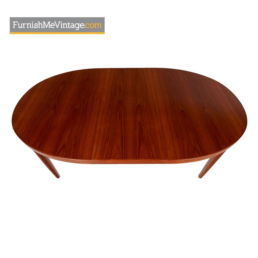 Skovmand Andersen Vintage Danish Teak Oval Dining Table - Danish modern kitchen table