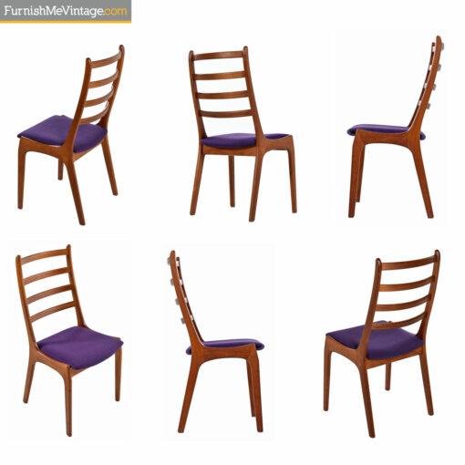 solid teak dining chairs kai kristiansen