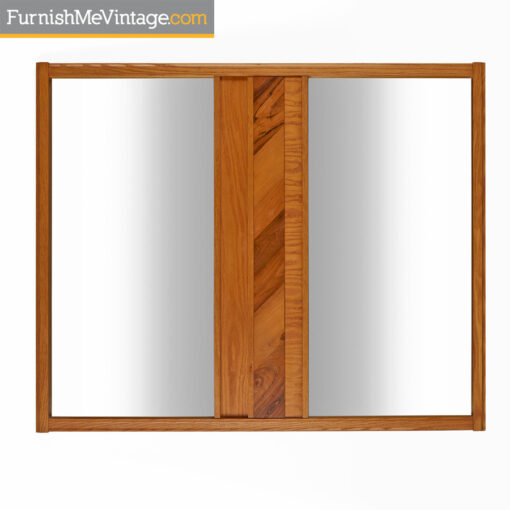 modern,hickory mirror,brutalist,oak,hickory,mid-century,