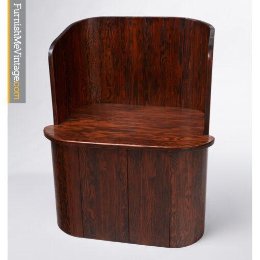 oak,barrel,chair,danish,modern