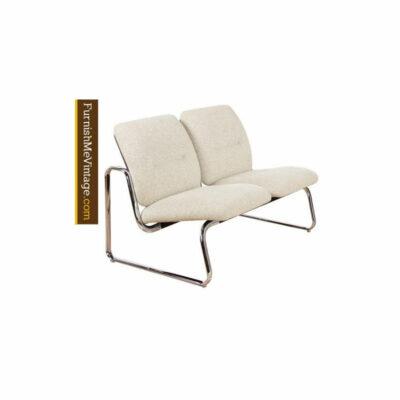 Steelcase,chrome,sofa,sete,modern,vintage