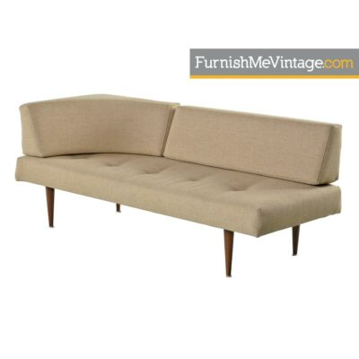 corner shape mid-century modern daybed
