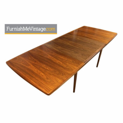 Long Teak Dining Table Made in Canada - Scandinavian Modern