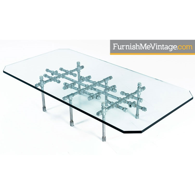Pipe Glass Coffee Table