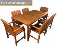 Greenington Greenbank Outdoor Bamboo Dining Set