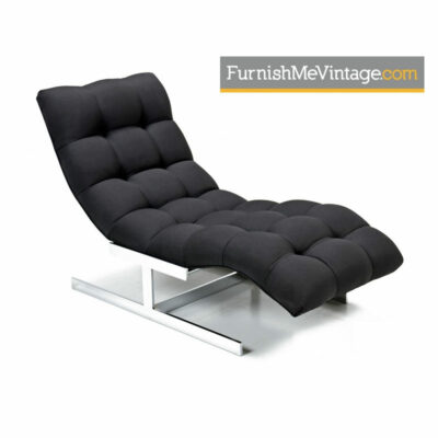 Milo baughman,carsons chaise,lounge,mid-century modern,hollywood regency,chrome