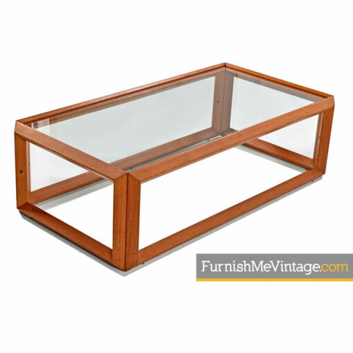 teak glass coffee table