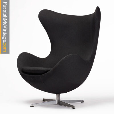 Arne Jacobsen, Authentic, Vintage, Egg Chair,black,fabric