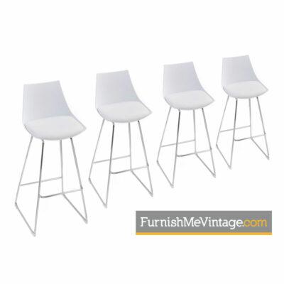 modern white and chrome bar stools