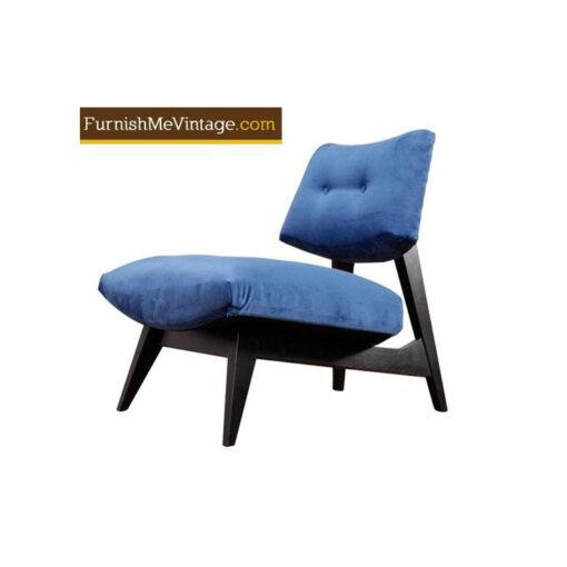 blue velvet chair1950s