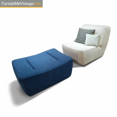 grey luonto arena chair and denim ottoman