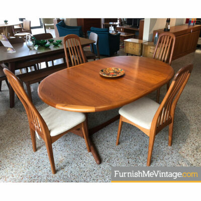oval danish teak table