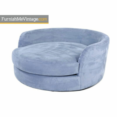 Blue retro tub barrel chair