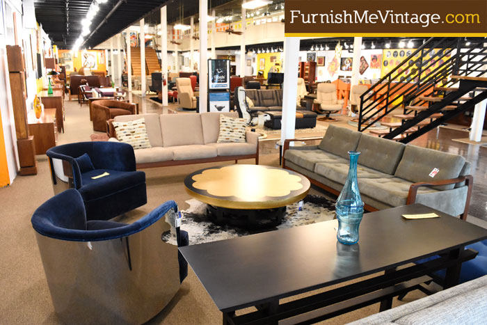 Showroom photos furnish me vintage for Mid century furniture florida