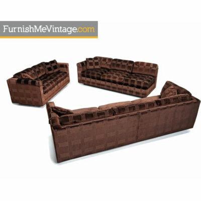 milo baughman sofa set