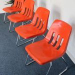 Set of 4 Eames Style Stackable Shell Chairs