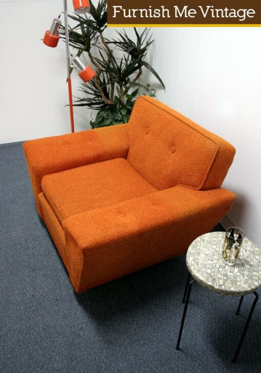 Big Comfy Mid Century Lounge Arm Chair