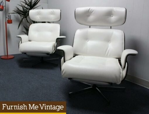 2 Vintage Selig Eames Style Lounge Chairs Recliners