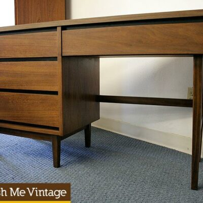 Petite Mid Century Modern Desk by Stanley