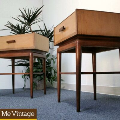 Super Unique Pair of Retro Blond Thomasville Nightstands