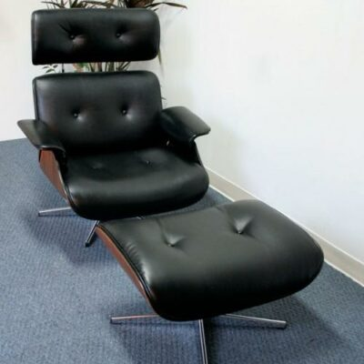 Vintage Selig Eames Style Lounge Chair with Ottoman