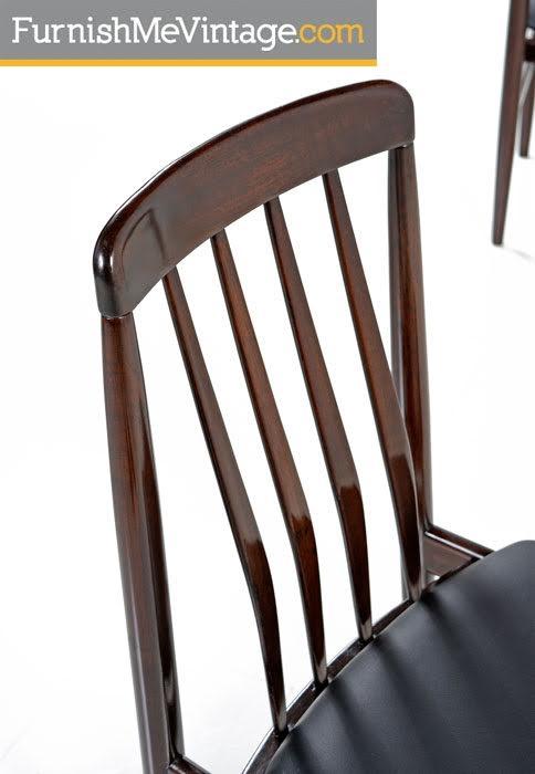 Rosewood Chairs - Danish Modern Slat Back Set of Six