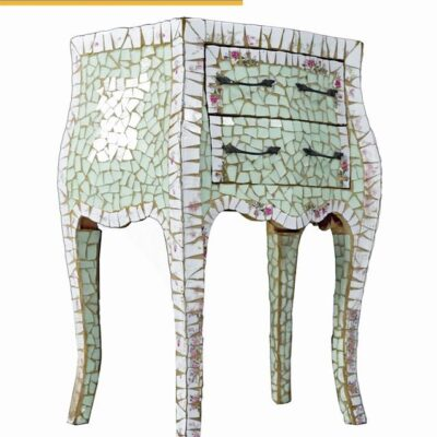 Ercole Pastel Mosaic End Table Designed by Ornella Pisano