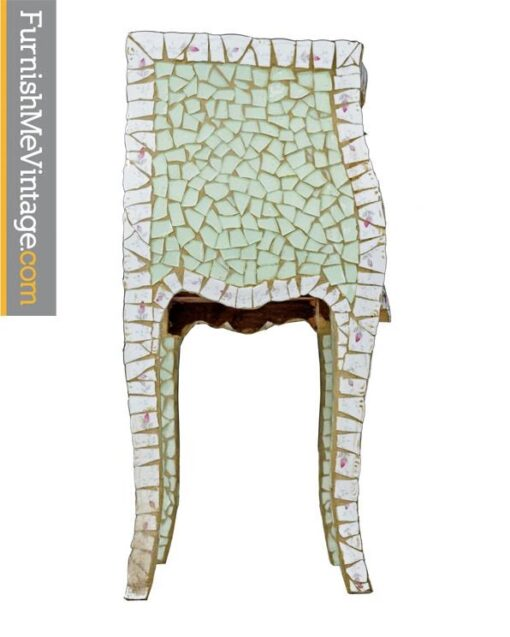 Ercole Pastel Mosaic End Table Designed by Ornella Pisano