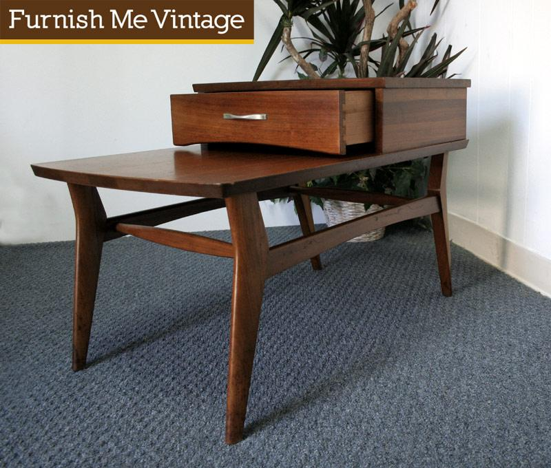 Danish Style Vintage Mersman Step End Table
