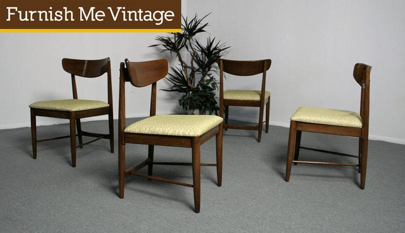 4 Mid Century American Of Martinsville Dania Dining Chairs