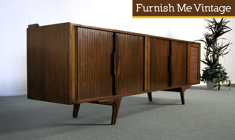 Danish Style Credenza : Mid century retro danish style sideboard drawer unit painted