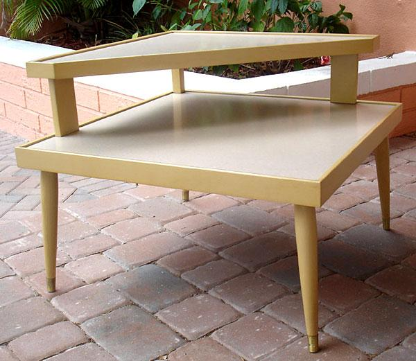 Mid Century Modern Corner Table - Mid century modern corner table