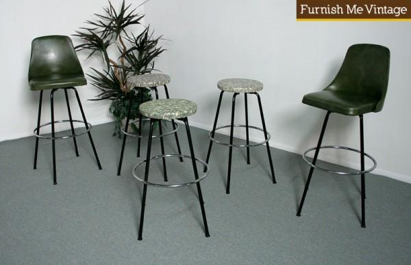 Fabulous 4 Mid Century Modern Atomic Age 1950S Bar Stools Dailytribune Chair Design For Home Dailytribuneorg
