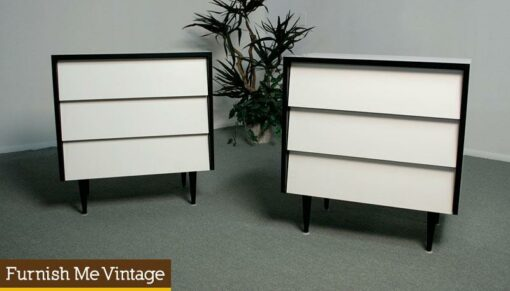 Pair of Retro Florence Knoll No. 125 Style Dressers