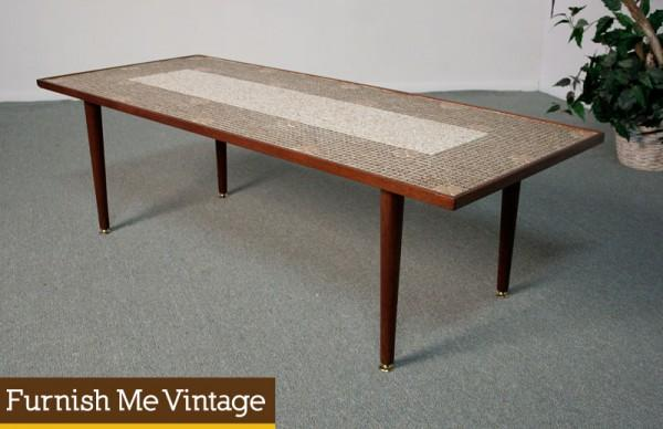 Wondrous Mid Century Modern Teak Tile Mosaic Coffee Table Ocoug Best Dining Table And Chair Ideas Images Ocougorg