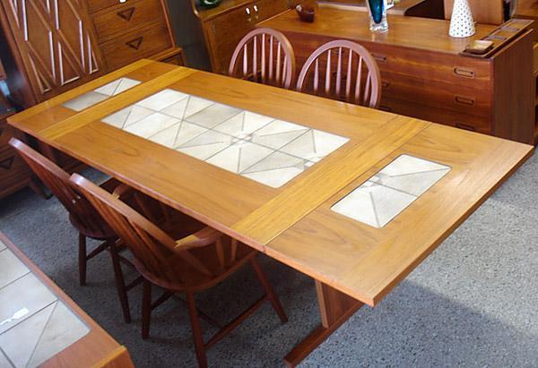 Mobler Danish Teak Dining Table W/ Tile Inlay