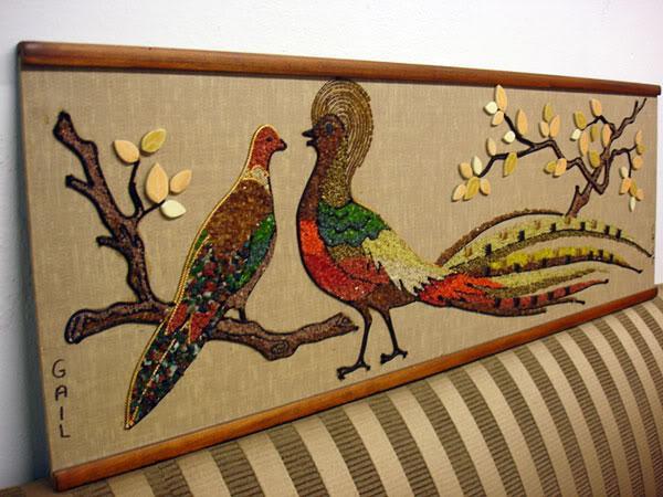 1960s Vintage Pebble Amp Tile Art Mosaic Image