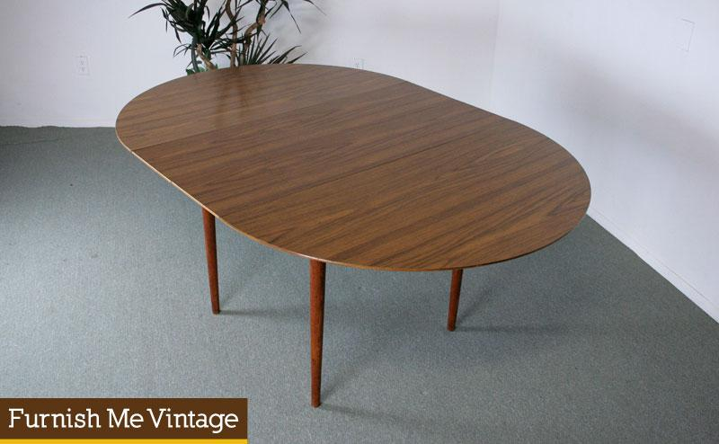 Mid Century Modern CircleOval Formica Dining Table - Mid century modern formica table