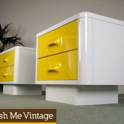 chapter one,broyhill,retro, Raymond Loewy ,yellow Nightstands