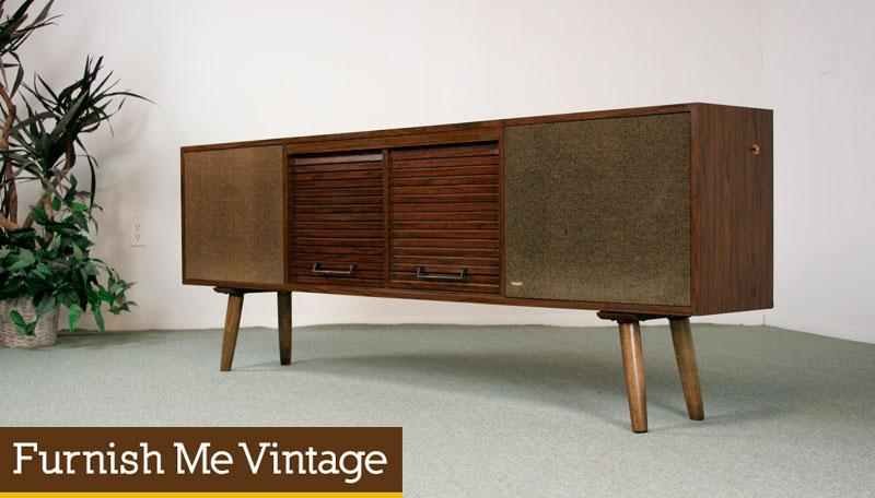 Vintage 1970s Nutone Record Player Console