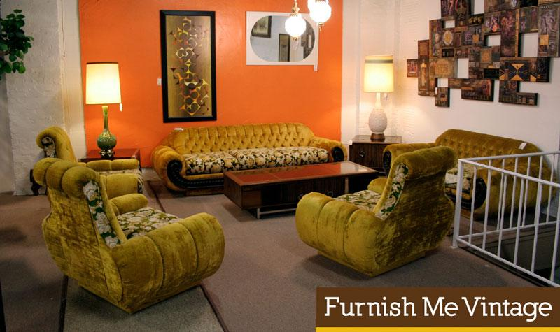 5 Piece Retro 1960s Living Room Sofas Chairs